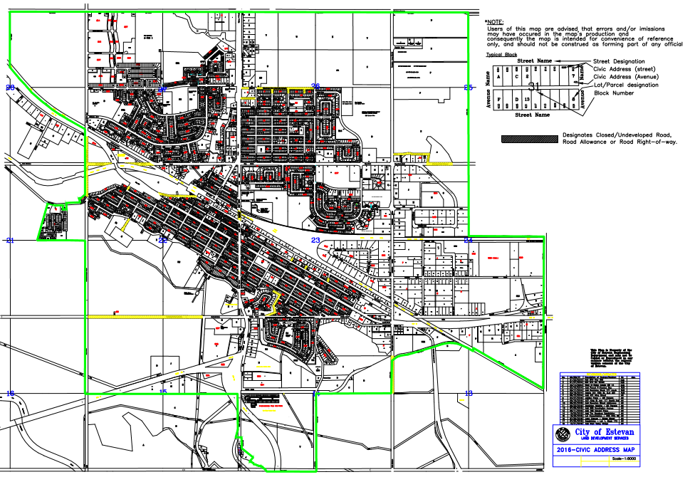 Residents City Map | City of Estevan on address home, address email, address art, address numbers, address search, address locator, address letter,